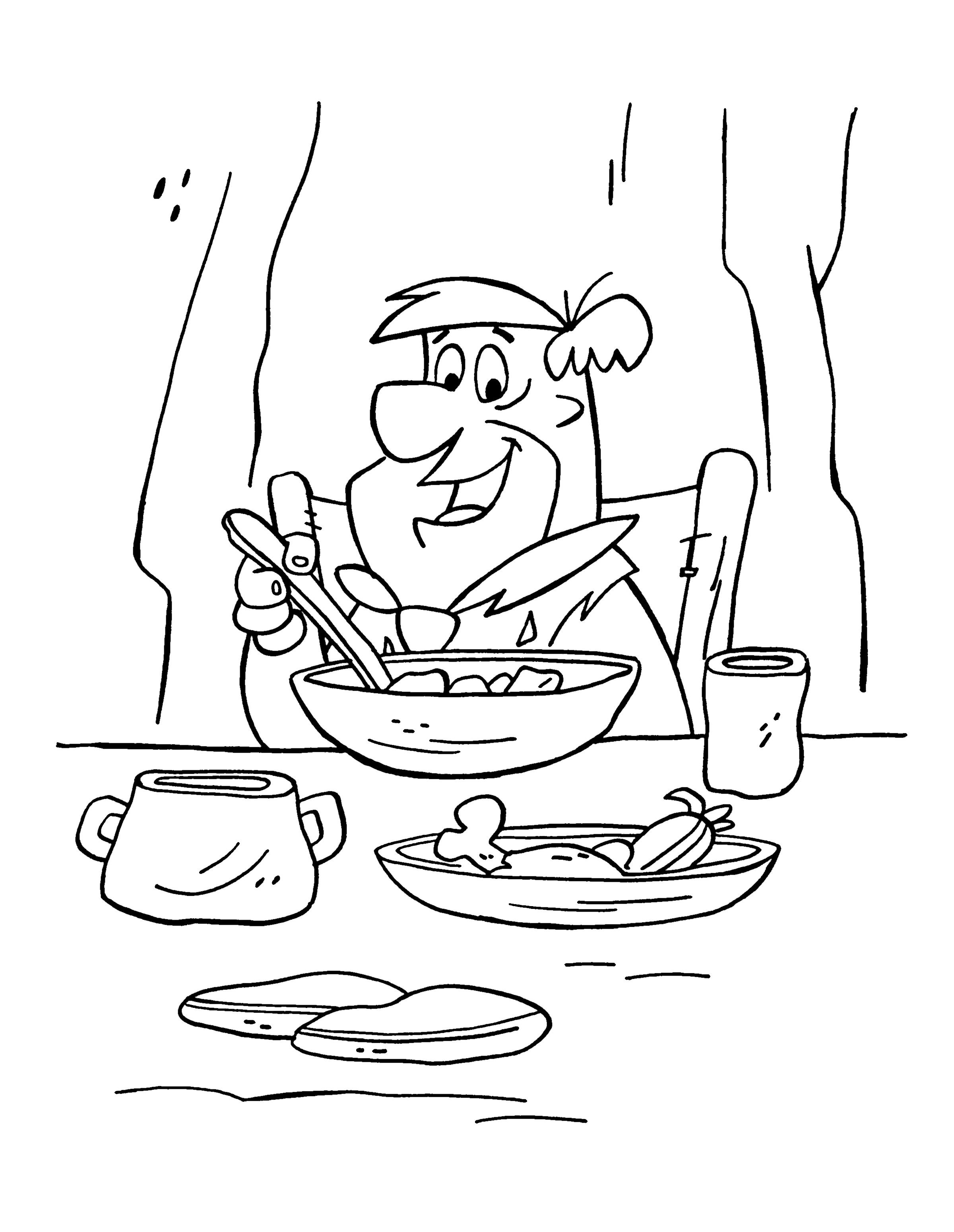 Desenhos para pintar Os Flintstones 20 | Desenhos para Colorir ...