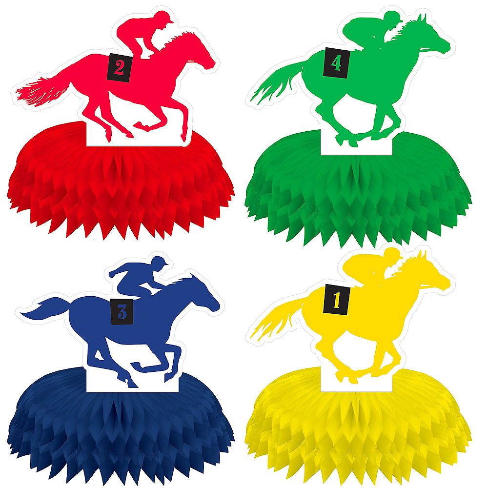 Mini Derby Day Centerpieces 4ct Party City in