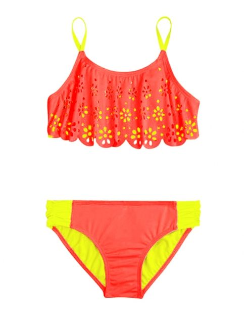 9d3010dca06df Cutout Flounce Bikini Swimsuit | Girls Swimsuits Swimwear | Shop Justice