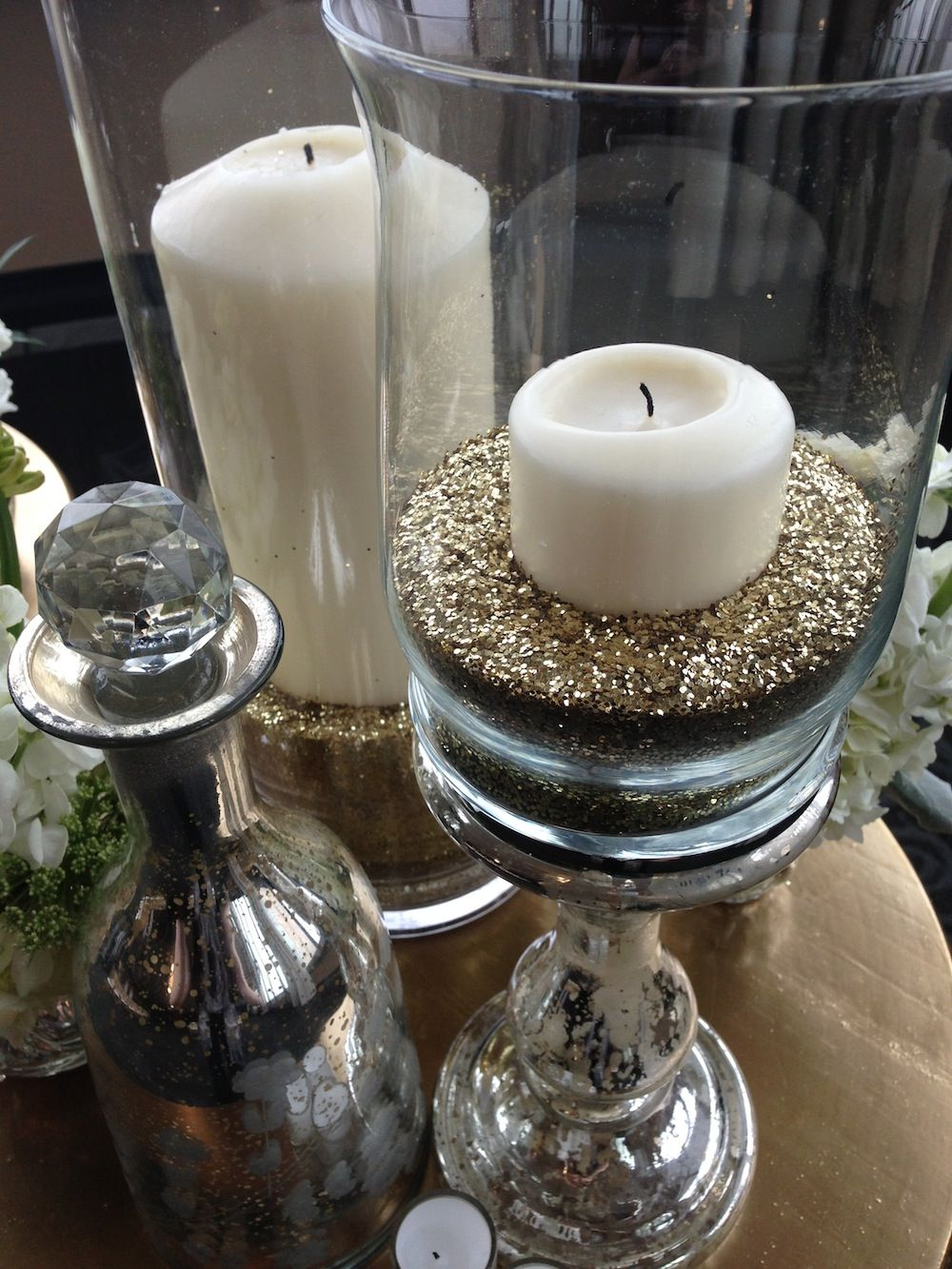 Gold glitter as vase filler by katewhelanevent event decor gold glitter as vase filler by katewhelanevent reviewsmspy
