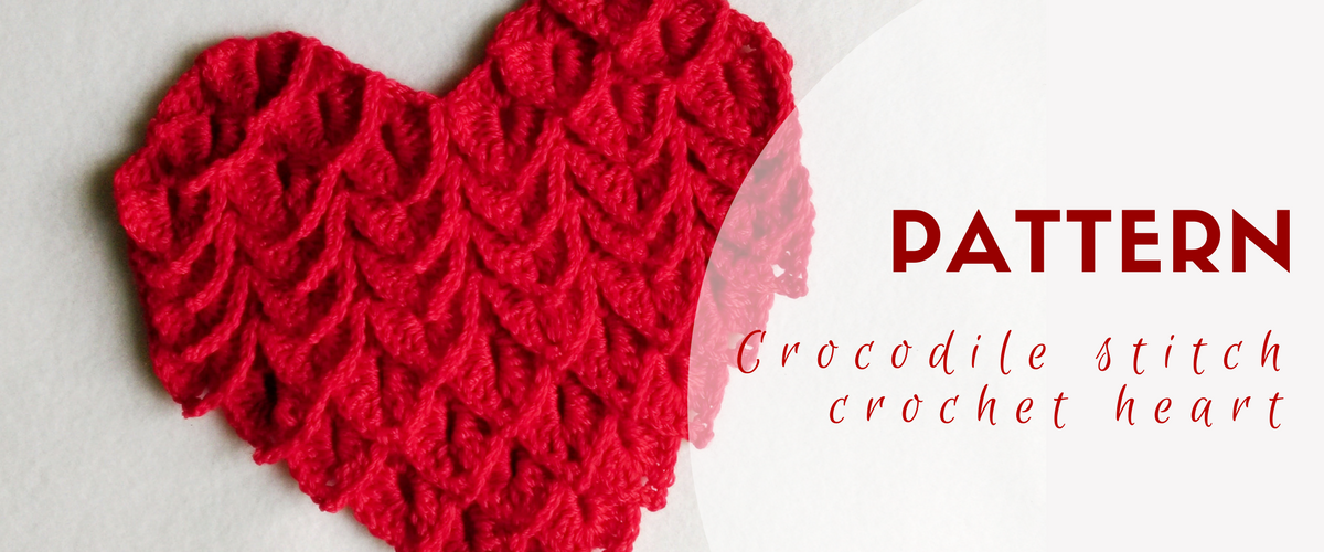 crochet crocodile stitch heart pattern featured image | Bonitos 1 ...