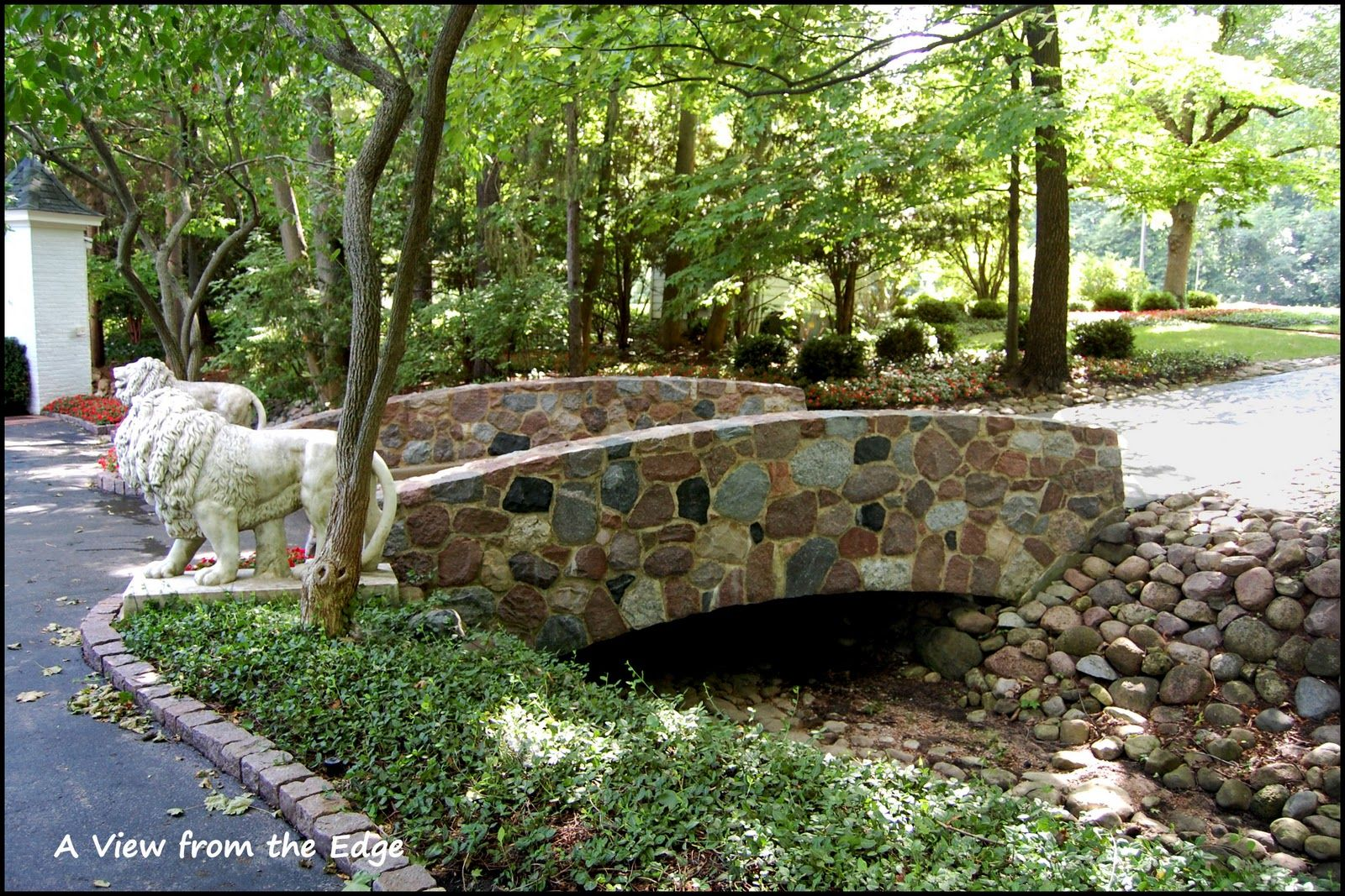 Cute bridge to build over our wash running through the