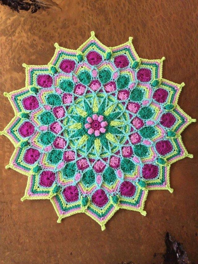 32+ Brilliant Photo of Crochet Mandala Pattern #crochetmandalapattern