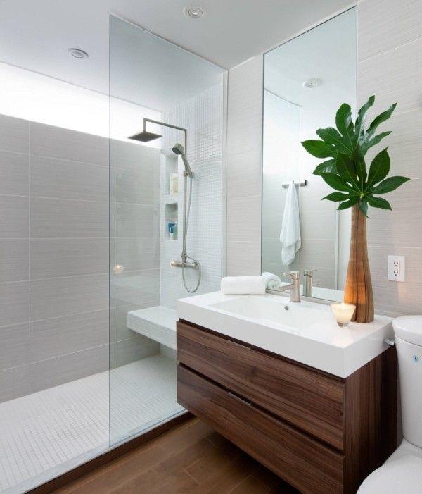 The Luxury Look Of High End Bathroom Vanities Modern Small Bathrooms Bathroom Design Small Modern Bathroom Design