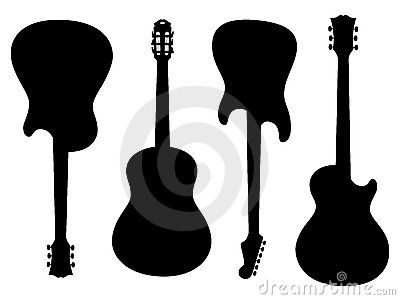 Guitars Silhouettes Doodle Books Silhouette Crafts Learn To Paint