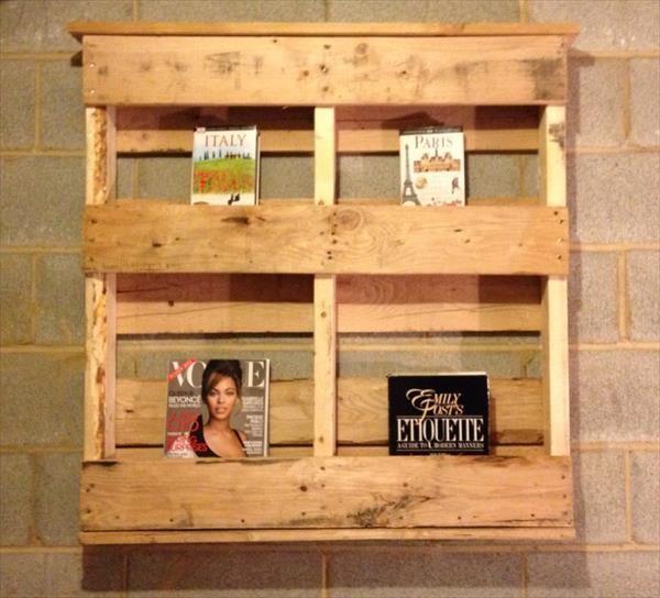 Wood Pallet Bookshelf Ideas