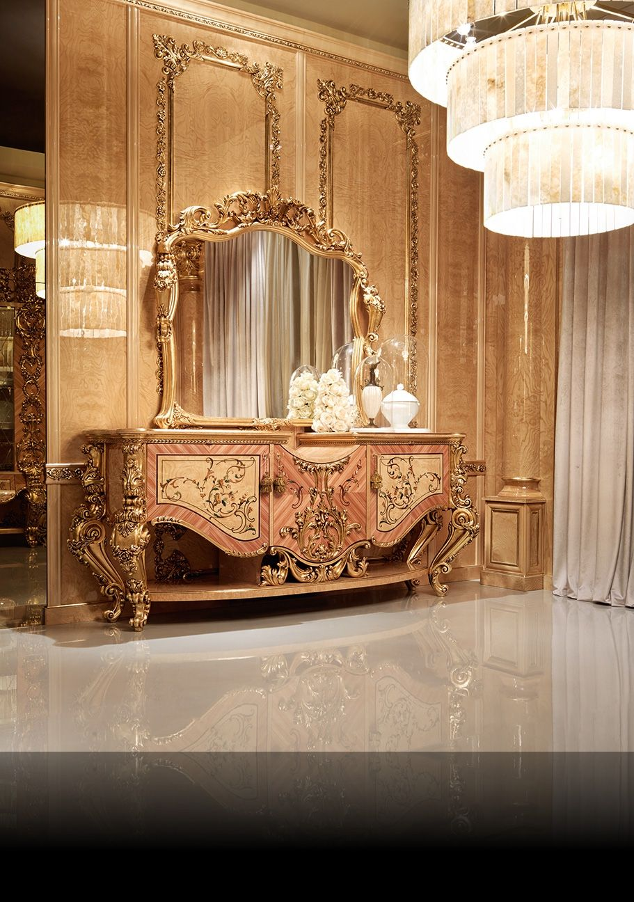 Gold buffet italian style by socci mobili classic for Italian design mobili