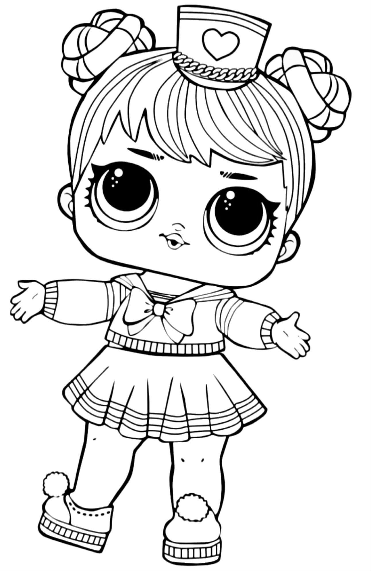 LOL Surprise Doll Coloring Sailor QT  Poupées lol, Coloriage chat