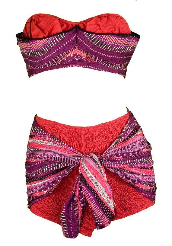 Bikini bathing suits in cotton fabric