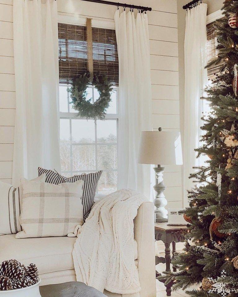 25 simple farmhouse window treatments