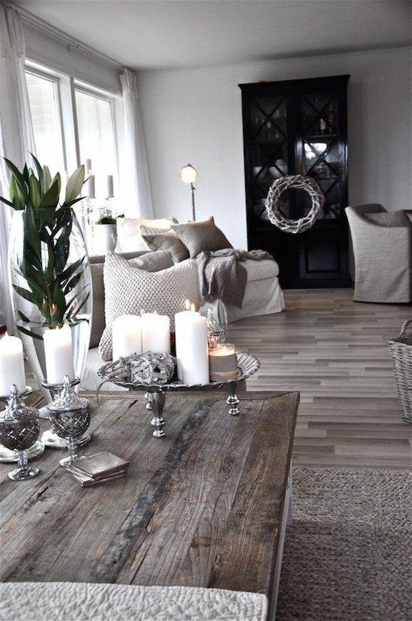rustikale wohnzimmertisch holzmbel rattan teppich - Rustikale Holzmobel Wohnzimmer