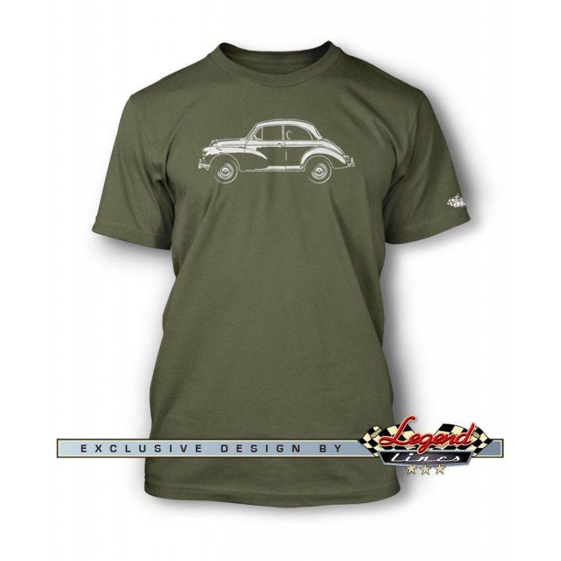 Morris Minor 2-Door Saloon T-Shirt - Side View