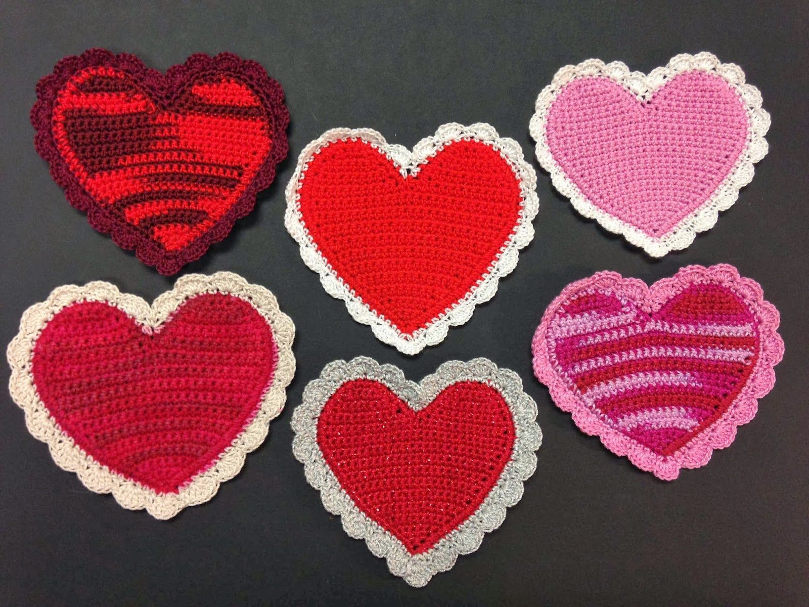 Some of the crocheted hearts can look wonky, but I love these from ...