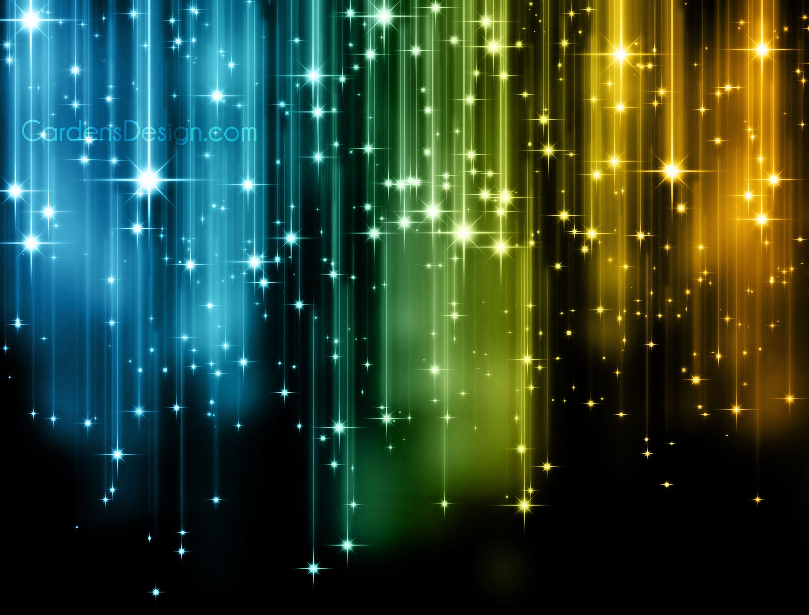 Glowing Lights Abstract Background Shining Stars Glow Colorful