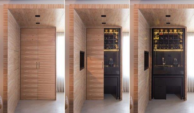 Marcenaria inteligente 10 ideias de portas que escondem e