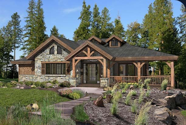 Grandview At 3 840 Sq Ft I Love The Design And Flow Of This Floorplan Luxury House Plans Basement House Plans Timber Frame Homes