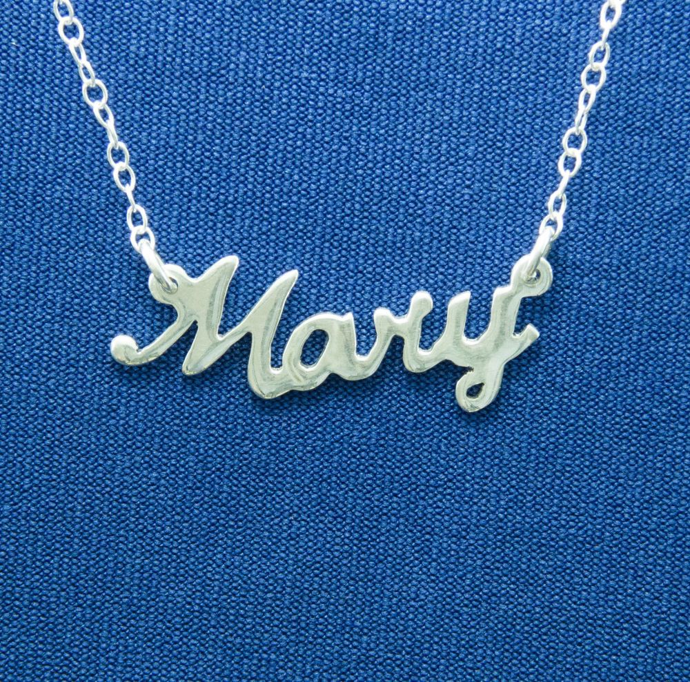 solid silver sterling new gift chain personalized name