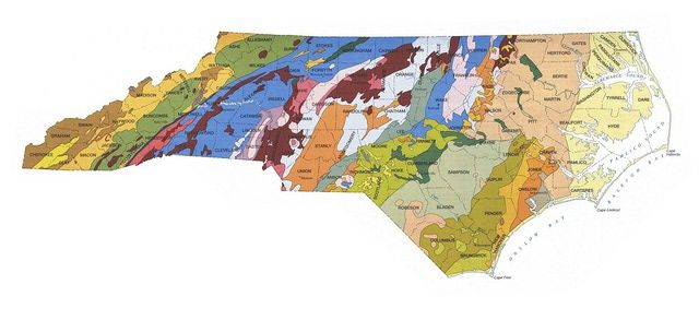 Geologic Maps Of The United States North Carolina And States - North carolina on the us map