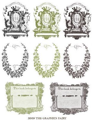 Free Printable - Vintage Bookplates Labels Pinterest Free - bookplate template word