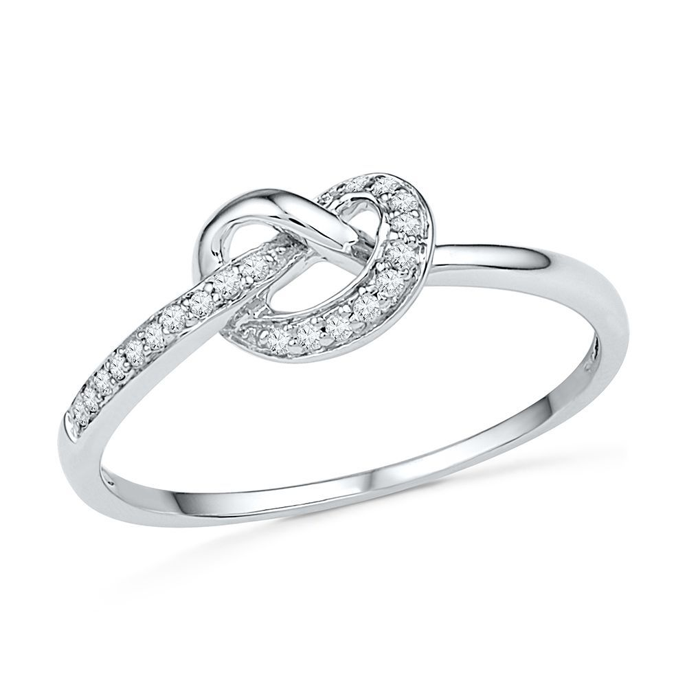 Sparkling Diamonds Accent This Popular Knot Style