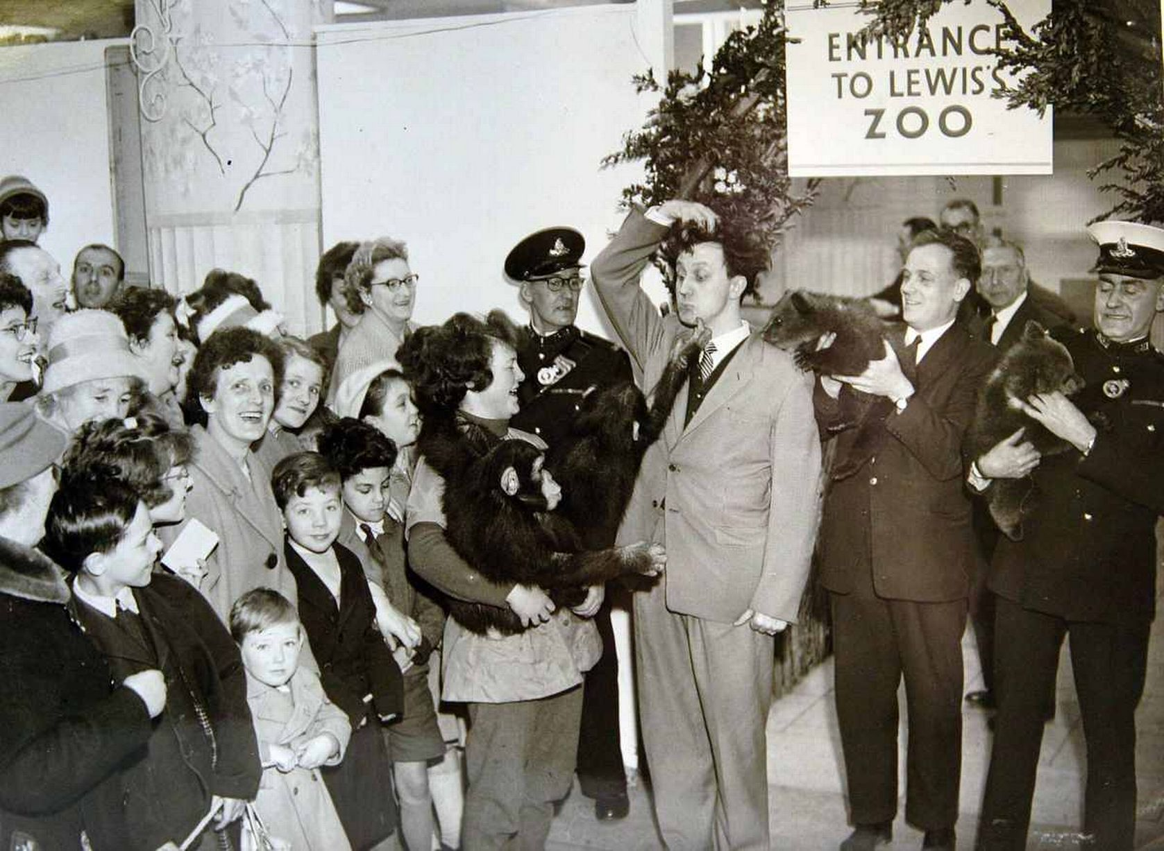 Lewis's department store in Liverpool. Ken Dodd at the entrance to the Zoo in the 1960's