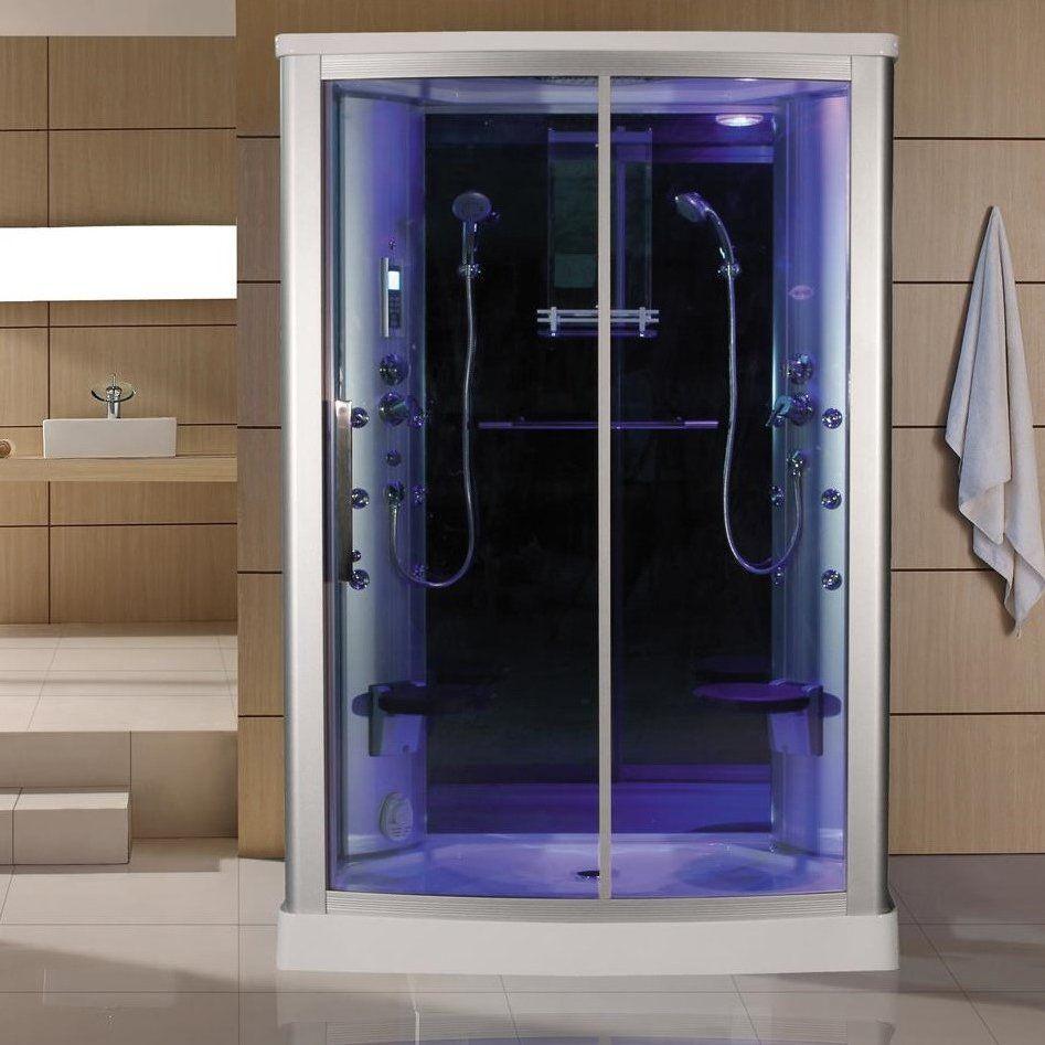 Blue Glass Steam Shower | home lusting | Pinterest | Steam showers ...