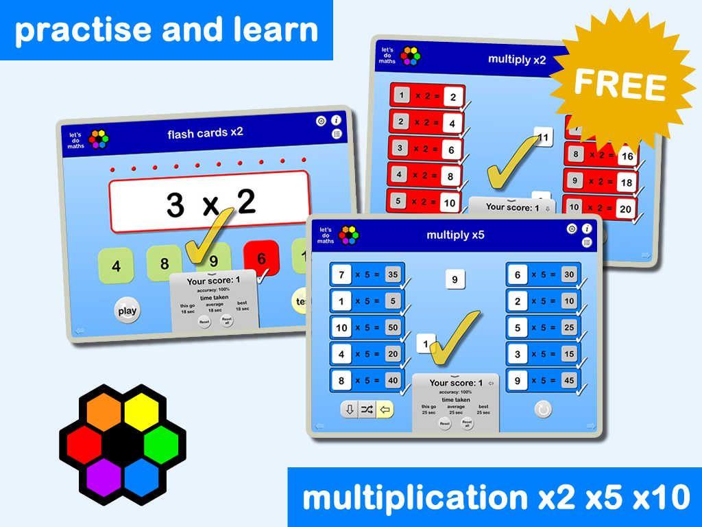 Multiplication Facts X2 X5 X10