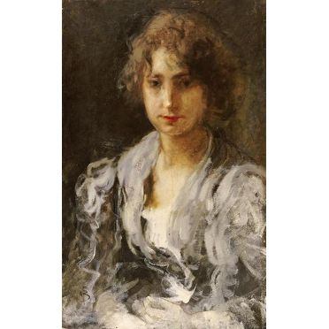 Portrait Of A Woman by Mose Bianchi Portraits Art Print