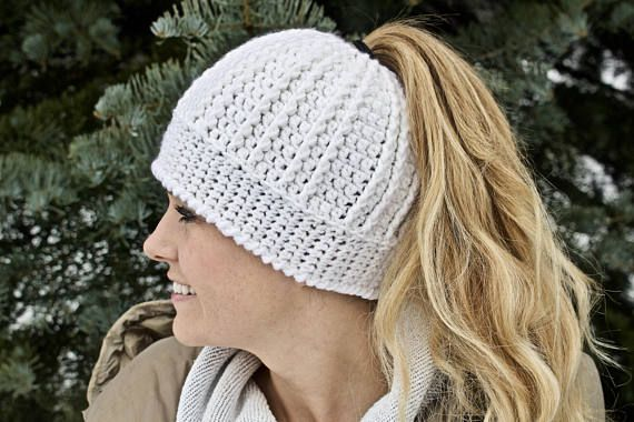 Beanie with Ponytail Hole, Running Beanie, Gift For Her, Mom Life ...