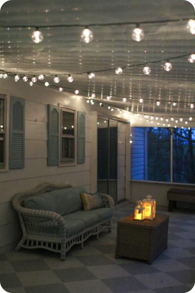 how to hang string lights in bedroom a gorgeous porch light solution lighting string lights 21093