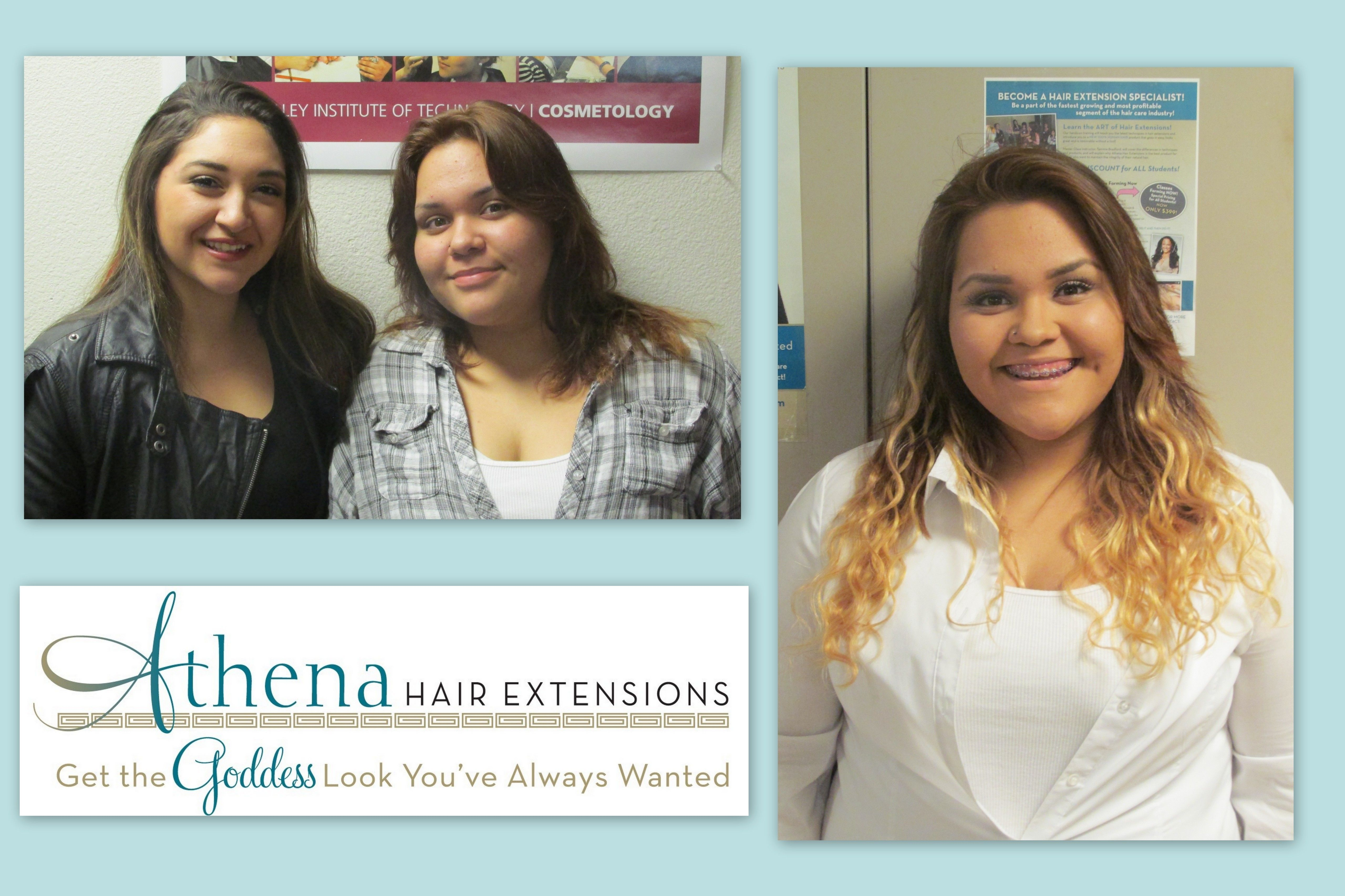 Before After Athena Hair Extensions Done During Our Hands On