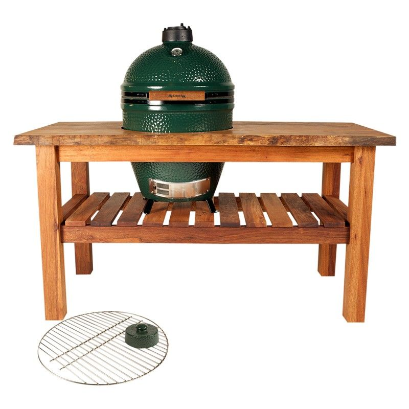 Bbq Sale Uk Part - 20: Big Green Egg Large BBQ Table Bundle On Sale In The UK Along With Best  Prices