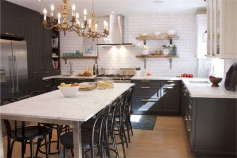 45 Fabulous Black And White Subway Tiles Kitchen Design Page 11 Of 45 White Subway Tile Kitchen Kitchen Design Kitchen Tiles Design