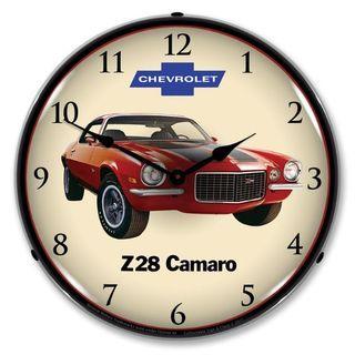 1972 Camaro Z28 Led Backlit Clock Wall Clock Light Wall Clock Clock