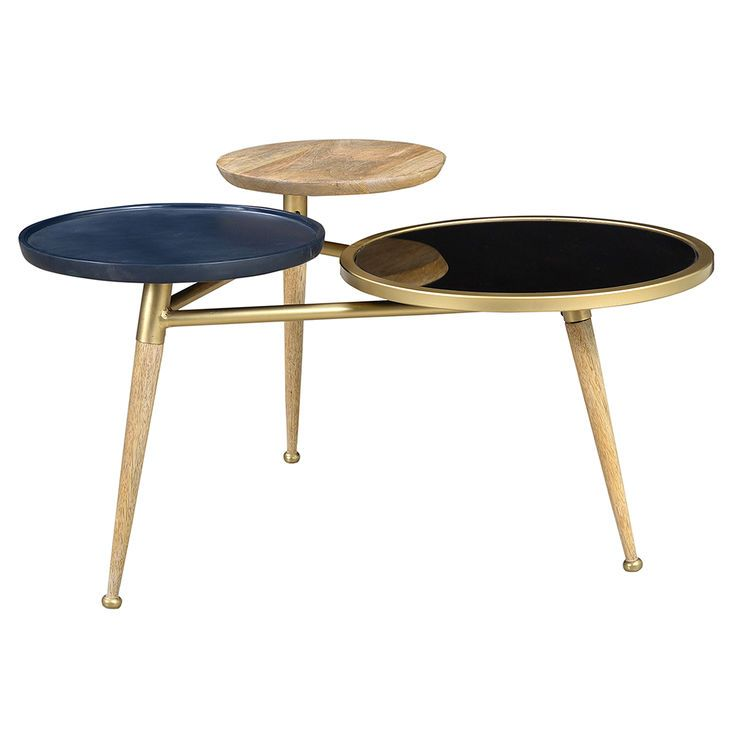 The 3 Tier Round Coffee Table Mirrored Black Brings Your Room To