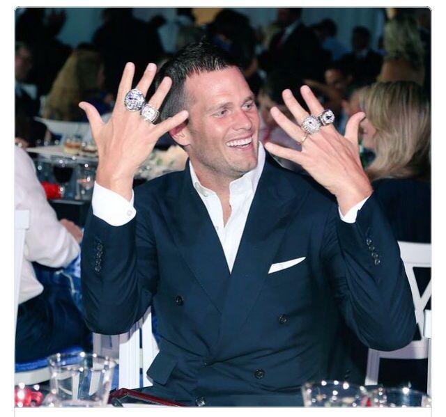 Patriots receive their 4th Super Bowl ring.