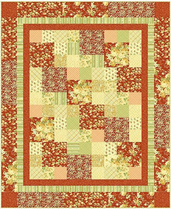 Love the colors, thinking it would be cuter with choc brown ... : free flannel quilt patterns - Adamdwight.com
