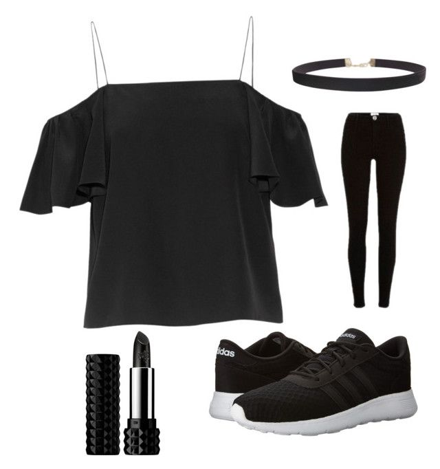 """""""Black gothic"""" by leonastar ❤ liked on Polyvore featuring Humble Chic, Fendi, River Island, adidas and Kat Von D"""