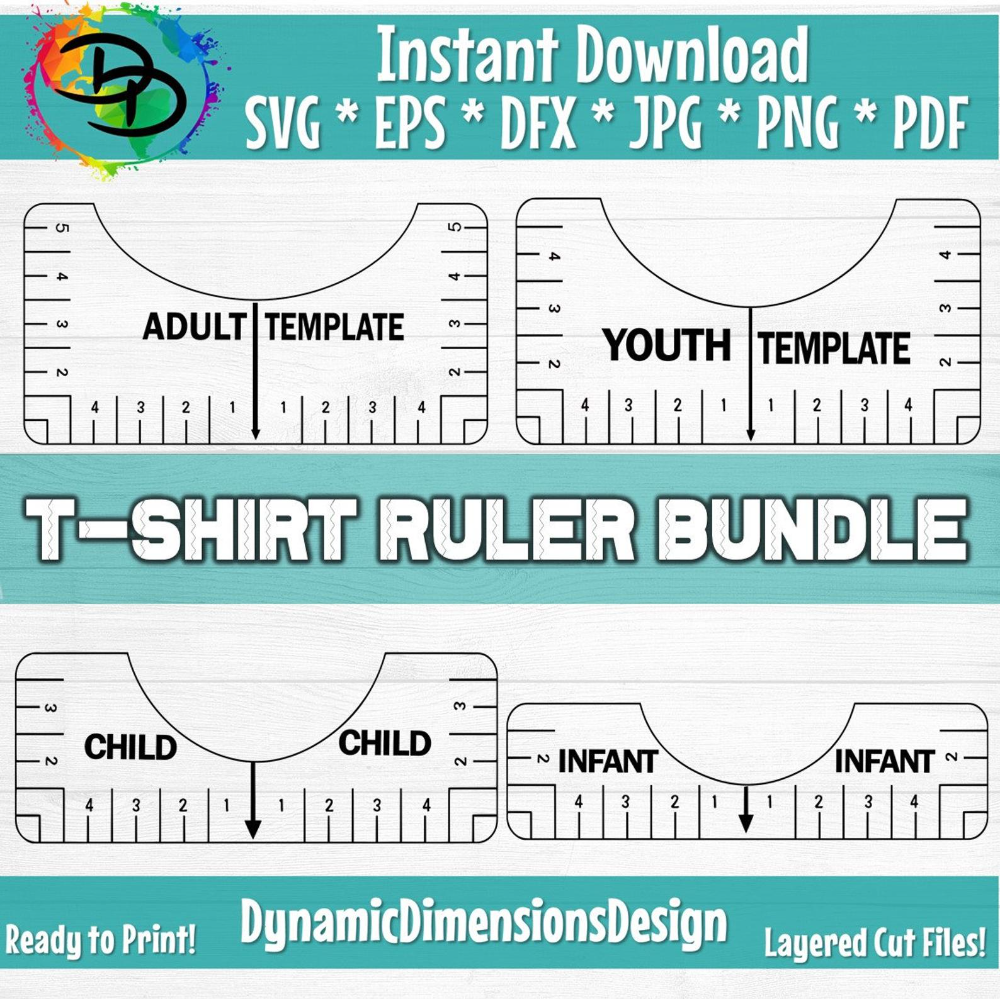 Tshirt Ruler Svg Bundle T Shirt Alignment Tool Dxf Shirt Etsy In 2021 Ruler T Shirt Making Shirts