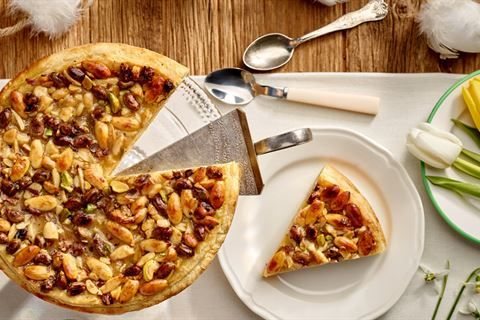 Ciasto Cytrynowo Pomaranczowe Z Migdalami Food Vegetable Pizza Desserts