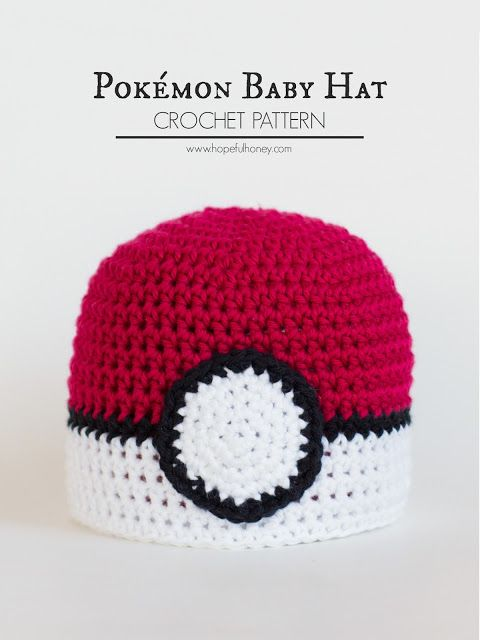 Newborn Pokémon Pokéball Inspired Hat - Free Crochet Pattern ...