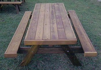 heavy duty picnic tables with attached benches | backyard