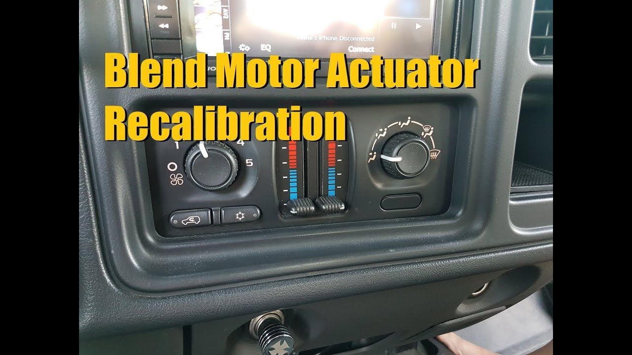HVAC Blend Motor Actuator Recalibration Procedure for GM