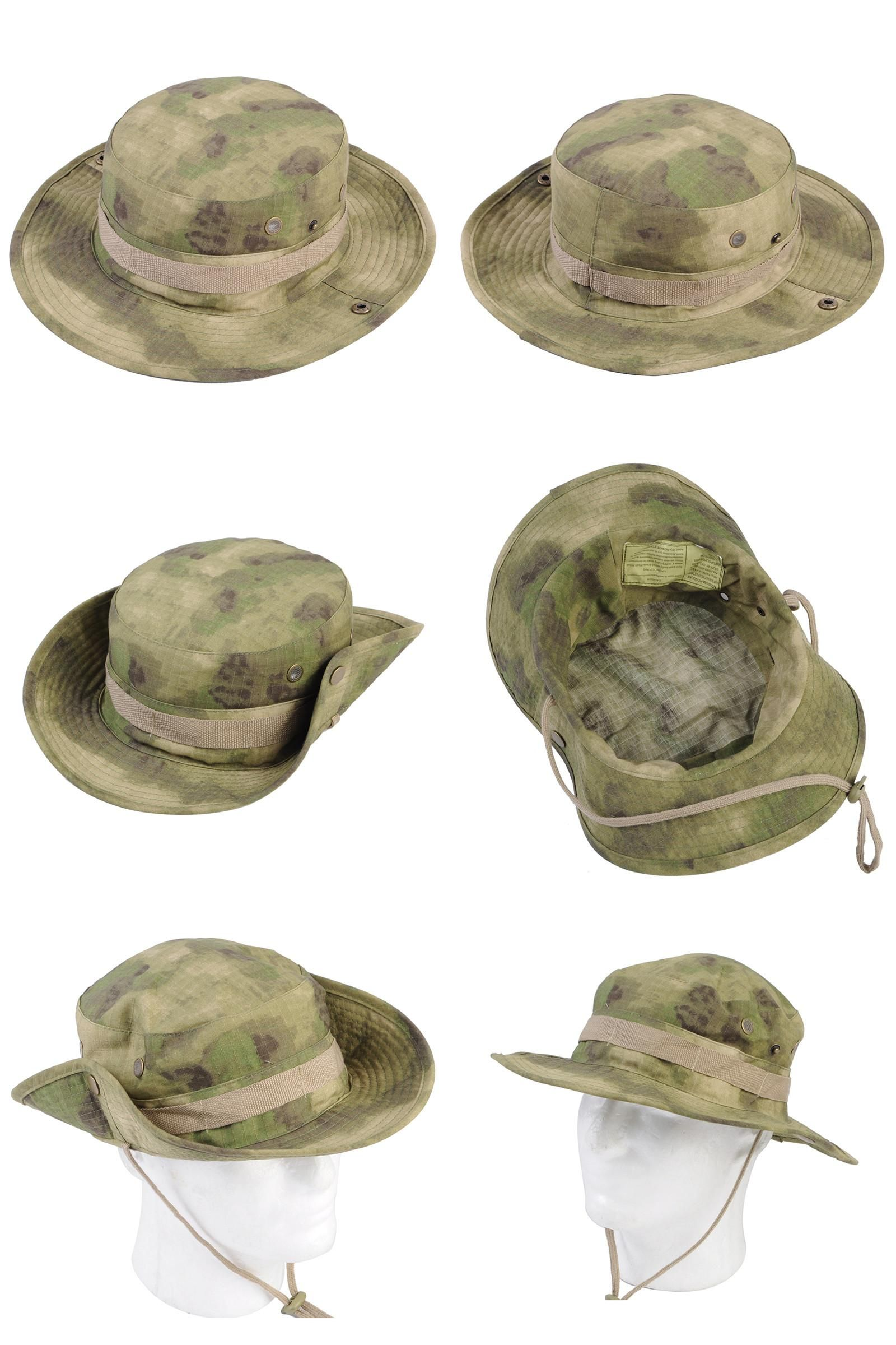 Visit to Buy  Airsoft Tactical Bucket Hat Men Camo Bucket Cap Outdoor  Sports Wide 16a5b7f93691