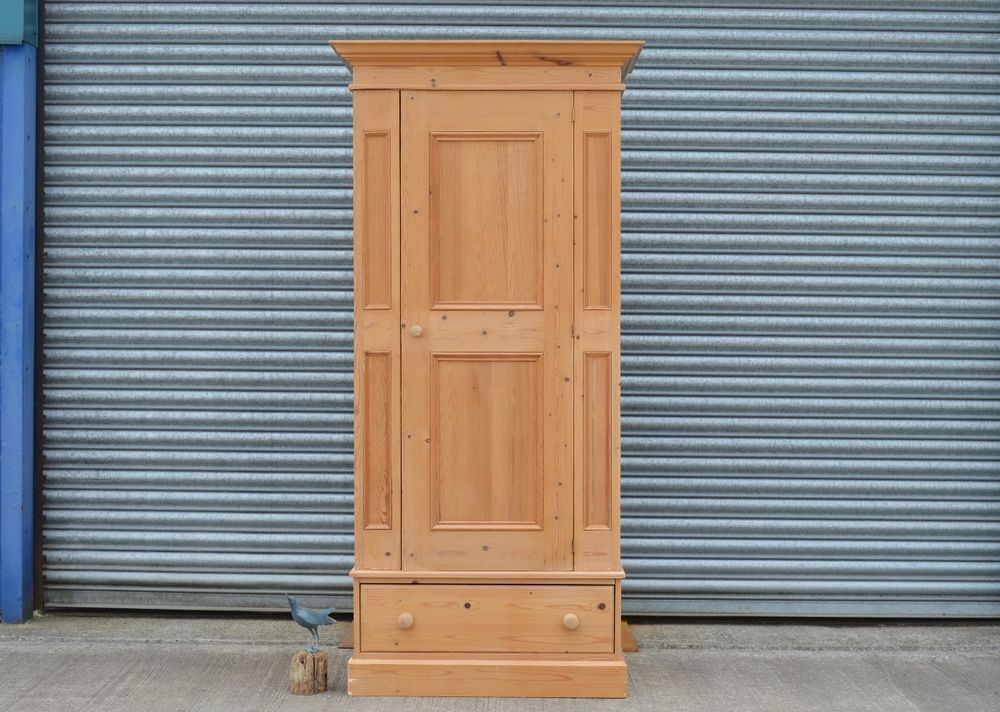 Best Antique Reproduction Solid Pine Single Wardrobe With 400 x 300