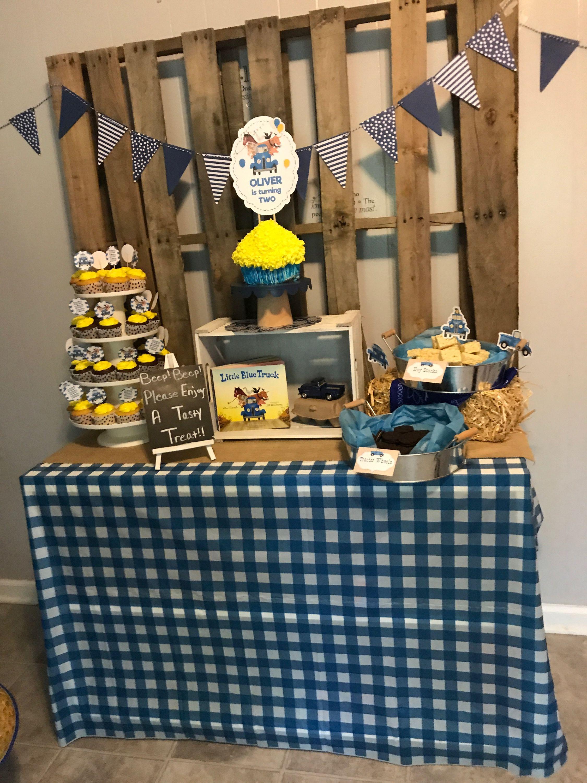 little blue truck birthday party ideas