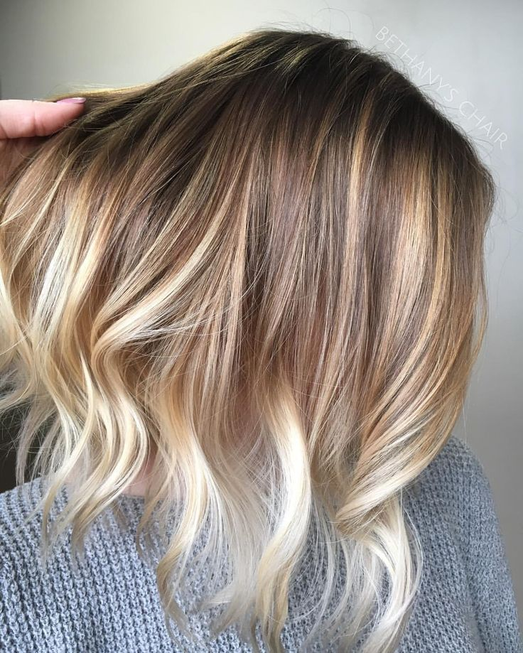 pretty colors pretty cut blonde balayage lob with natural roots instagram photo by. Black Bedroom Furniture Sets. Home Design Ideas