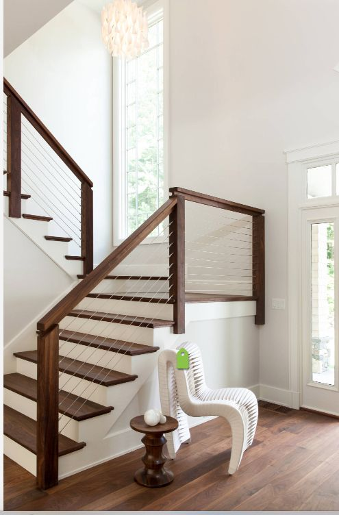Modern And Transitional Stairs Wood Stair Railings Staircase Railing Ideas
