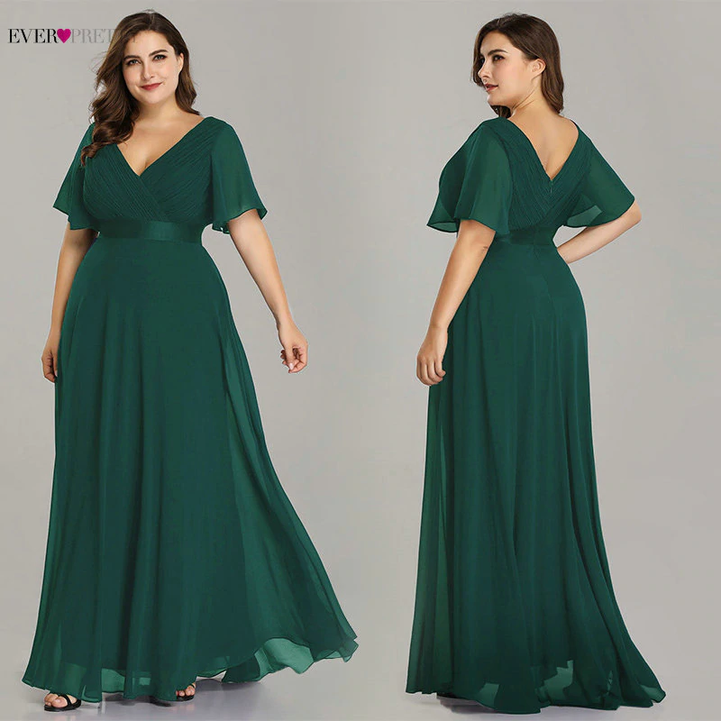 FREE SHIPPING Plus Size Pink Prom Dresses Long Ever Pretty ...