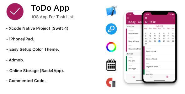 TODO App iOS App For Task List Storage Parse